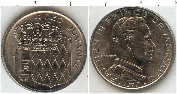 Картинка Мелочь Монако 1 франк Медно-никель 1977