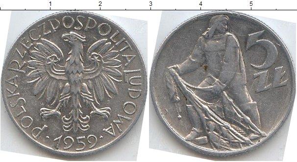 Купить монету 5 злотых 1959 продажа монет в спб