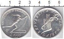 Изображение Монеты Сан-Марино 1000 лир 1987 Серебро UNC- Олимпийские игры. Лы