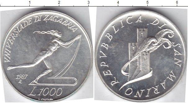 Картинка Монеты Сан-Марино 1.000 лир Серебро 1987