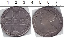 Изображение Монеты Великобритания 1 крона 1708 Серебро  Анна