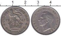 Изображение Мелочь Великобритания 1 шиллинг 1948 Медно-никель  Георг VI