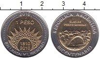 Изображение Мелочь Аргентина 1 песо 2010 Биметалл UNC- 200-летие независимо