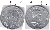 Изображение Мелочь Уругвай 50 сентесим 1965 Алюминий