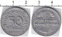 Изображение Мелочь Веймарская республика 50 пфеннигов 1921 Алюминий XF D