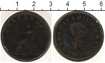 Изображение Монеты Великобритания 1/2 пенни 1807 Медь  KM#662. Георг III