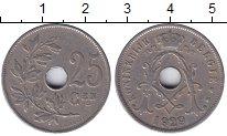 Изображение Мелочь Бельгия 25 сентим 1913 Медно-никель