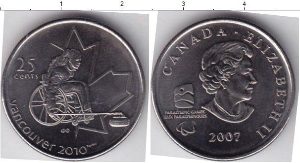 Картинка Мелочь Канада 25 центов Медно-никель 2007