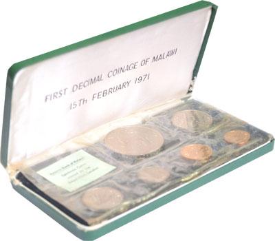 Изображение Подарочные наборы Малави Выпуск монет 1971 года 1971
