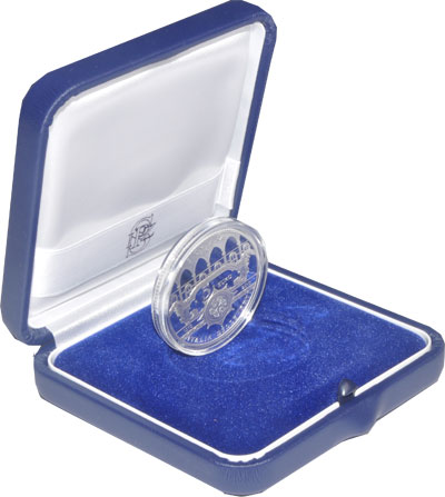 Изображение Подарочные наборы Италия 700-летие Святой Кьяры 2010 Серебро Proof Подарочный набор пос