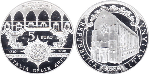 Картинка Подарочные наборы Италия 700-летие Святой Кьяры Серебро 2010