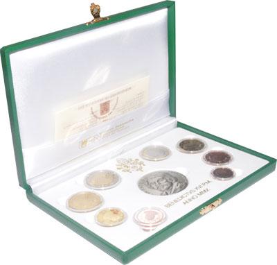 Изображение Подарочные монеты Ватикан 400-летие Микеланджело да Караваджо 2010  Proof