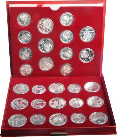 Изображение Подарочные монеты СССР Летние Олимпийские игры в Москве 1980 1980 Серебро UNC- Подарочный набор пос