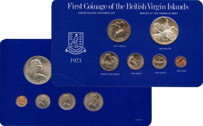 Изображение Подарочные монеты Виргинские острова Выпуск 1973 года 1973  UNC Предлагаем Вашему вн