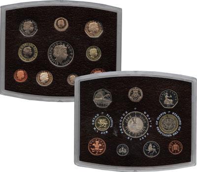 Изображение Подарочные монеты Великобритания Годовой набор 2000 2000  Proof