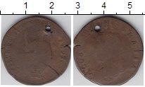 Изображение Монеты Ирландия 1/2 пенни 1693 Медь  Интересный перечекан
