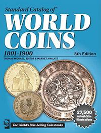 Изображение Книги о монетах Нумизматика Краузе 2015, Стандартный каталог монет 1801-1900 год, 0   8-е издание, 2015 го