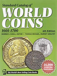 Изображение Книги о монетах Нумизматика Краузе 2014, Стандартный каталог монет всего мира, 1601-1700 гг 0