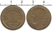 Изображение Мелочь Франция 1 франк 1938