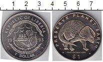 Изображение Мелочь Либерия 1 доллар 1993 Медно-никель  Протоцератопс