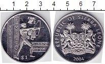 Изображение Мелочь Сьерра-Леоне 1 доллар 2004 Медно-никель  Олимпийские игры в А