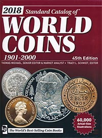 Изображение Книги о монетах Нумизматика Краузе 2018, Стандартный каталог монет 1901-2000 0   45 издание 2018 год