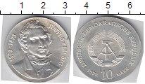 Изображение Монеты ГДР 10 марок 1978 Серебро UNC- 175-летие со дня рож