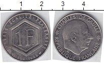 Изображение Мелочь Франция 1 франк 1988 Медно-никель XF Шарль де Голль
