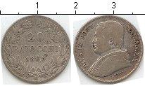 Изображение Монеты Ватикан 20 байочи 1865 Серебро  Пий IX