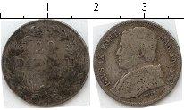 Изображение Монеты Ватикан 20 байочи 1859 Серебро  Пий IX