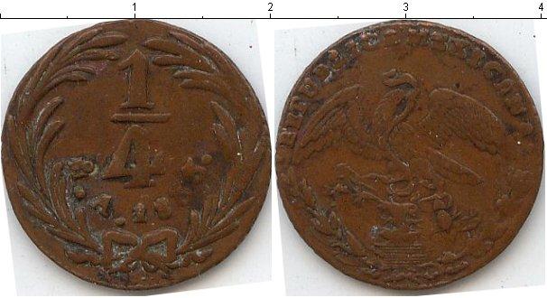 Картинка Монеты Мексика 1/4 реала Медь 1833