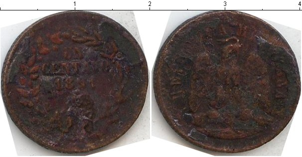 Картинка Монеты Мексика 1 сентаво Медь 1891
