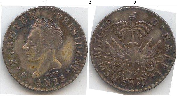 Картинка Монеты Гаити 50 сантим Серебро 1828