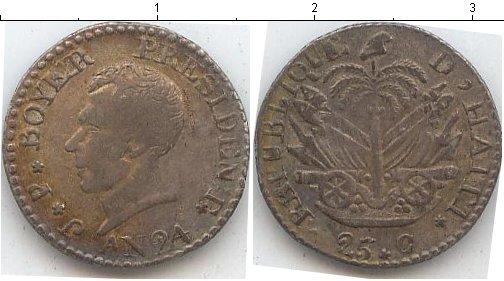 Картинка Монеты Гаити 25 сантим Серебро 1827