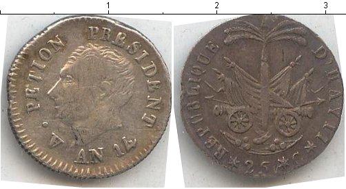 Картинка Монеты Гаити 25 сантим Серебро 0