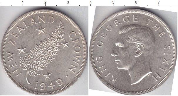 Картинка Мелочь Новая Зеландия 1 крона Серебро 1949