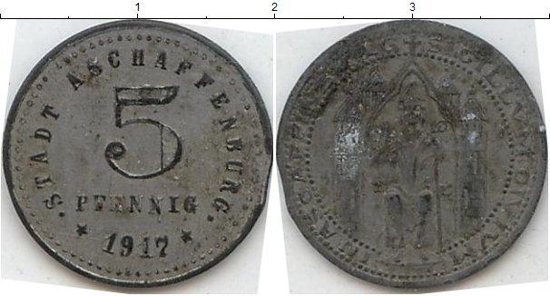 Картинка Нотгельды Ашаффенбург 5 пфеннигов Цинк 1917