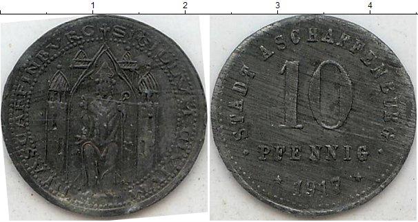Картинка Нотгельды Ашаффенбург 10 пфеннигов Цинк 1917