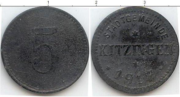 Картинка Нотгельды Китцинген 5 пфеннигов Цинк 1917