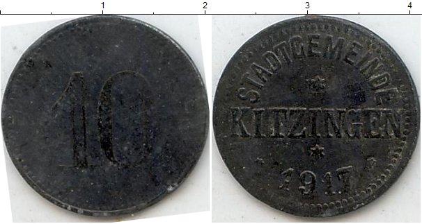 Картинка Нотгельды Китцинген 10 пфеннигов Цинк 1917