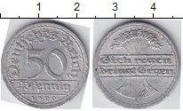Изображение Мелочь Веймарская республика 50 пфеннигов 1920 Алюминий  A