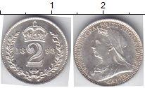 Изображение Монеты Великобритания 2 пенса 1898 Серебро UNC- Из маунди-сета. Викт
