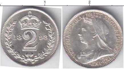 Картинка Монеты Великобритания 2 пенса Серебро 1898