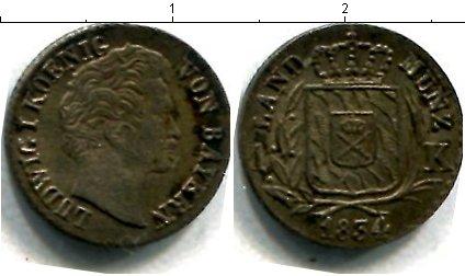 Картинка Монеты Бавария 1 крейцер Серебро 1834