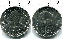Изображение Монеты Сан-Марино 1000 лир 1996 Серебро UNC
