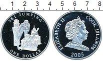 Изображение Монеты Острова Кука 1 доллар 2005 Серебро Proof Лыжник