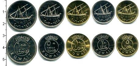 Изображение Наборы монет Кувейт Кувейт 1979-2007 0  AUNC В наборе 5 монет ном