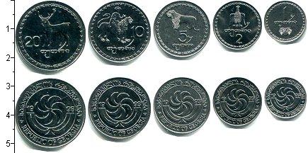 Изображение Наборы монет Грузия Грузия 1993 1993  UNC В наборе 5 монет ном