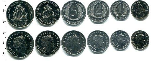Изображение Наборы монет Карибы Карибы 2004-2008 2004  UNC В наборе 6 монет ном