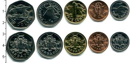 Изображение Наборы монет Барбадос Барбадос 2008-2011 0  UNC В наборе 5 монет ном